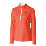 ORANGE/WHITE STRIPE 1/2 ZIP JACKET