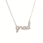 GRAD SCRIPT NECKLACE