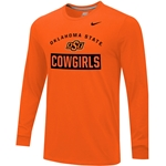 NIKE OK ST COWGIRLS LONG SLEEVE TEE