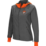 GREY WITH ORANGE BACKSIDE HOODED JACKET