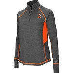 GREY WITH ORANGE 1/4 ZIP PULLOVER