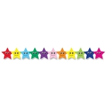 Hygloss Prod. Colorful Happy Stars Border Strips