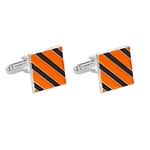 ORANGE & BLACK CUFF LINKS