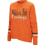 HEATHER ORANGE LONG SLEEVE CREW SWEATSHIRT