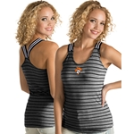 BLACK/WHT STRIPE RACER BACK TANK