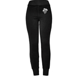 BLACK VELOUR CUFFED PANT