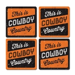 COWBOY COUNTRY COASTER SET