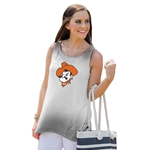 GAMEDAY COUTURE GREY AND WHITE OMBRE TANK