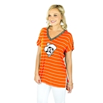 GAMEDAY COUTURE ON THE LINE PIN STRIPE V NECK