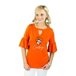 GAMEDAY COUTURE RUFFLE AND READY TOP