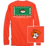 SOUTHERN TIDE  GAMEDAY FOOTBALL LONG SLEEVE STADIUM TEE