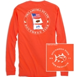 SOUTHERN TIDE GAMEDAY LONG SLEEVE NAUTICAL FLAGS MAST TEE