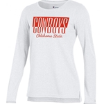 WHITE LONG SLEEVE SCHOOL PRIDE TEE