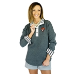 GAMEDAY COUTURE OUT OF YOUR LEAGUE 1/4 BUTTON PULLOVER