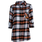 HEADWAY LONG SLEEVE PLAID NIGHT SHIRT