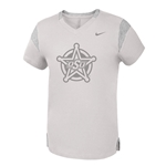 NIKE GIRLS BIG SILVER BADGE TEE