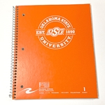 CIRCLE OKSTATE 1890 - 1 SUBJECT SPIRAL NOTEBOOK