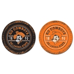 GO COWBOYS THIRSTY CAR COASTER 2-PACK