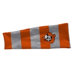 GRAY AND ORANGE HEADBAND WITH PETEHEAD