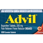 RJ General Advil Pain Reliever Ibuprofen Tablets