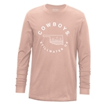 USCAPE PALE PINK STARRY SCAPE LONG SLEEVE TEE