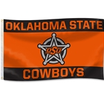 OKLAHOMA STATE BADGE 3X5 FLAG