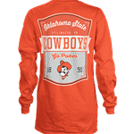 ORANGE LONG SLEEVE COTTON TEE