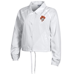 WHITE CROP COACHES JACKET