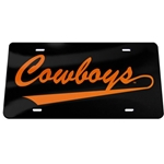COWBOYS SWOOSH LICENSE PLATE