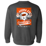 COMFORT COLORS FOOTBALL SWEATSHIRT