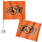 OSU 2 SIDED CAR FLAG