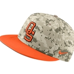NIKE CAMO FITTED CAP