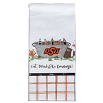 OK ST EAT, DRINK & GO COWBOYS HAND TOWEL