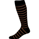 BLACK WIDE STRIPE SOCK
