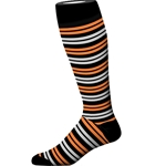 ORG/BLK DOUBLE STRIPE SOCK