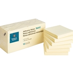 ADHESIVE NOTES - 3X3, YELLOW, 12 PACK