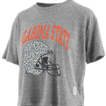 GREY CROP WITH CHEETAH HELMET