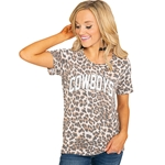 GAMEDAY COUTURE CHEETAH COWBOYS TEE