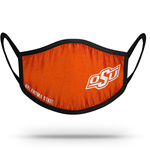 OKLAHOMA STATE EAR LOOP FACE MASK