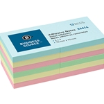 ADHESIVE NOTES - 3x3, PASTEL, 12 PACK
