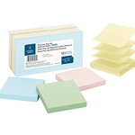 ADHESIVE POP-UP NOTES - 3X3, PASTEL, 12 PACK