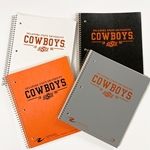 OSU COWBOYS - 3 SUBJECT SPIRAL NOTEBOOK