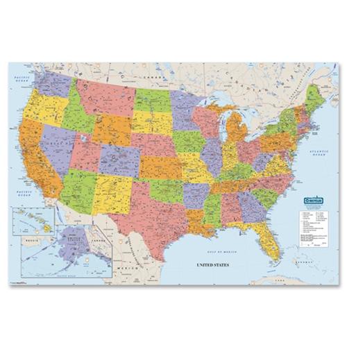 Large Laminated Us Map.Shopokstate Doolittle Laminated United States Map