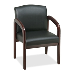 Lorell Deluxe Faux Leather Guest Chairs