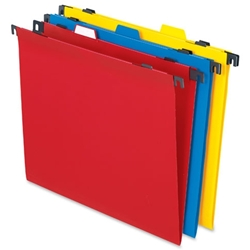 Pendaflex 2-In-1 Poly Hanging/File Folders FOLDER,POLY,2,IN,1,LTR,AST  (ASSORTED) (PK)