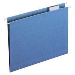 Smead 1/5 Cut Letter Size Hanging File Folders FOLDER,HANG,LTR,1/5,SBE (SKY  BLUE) (BX)
