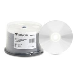 photograph regarding Inkjet Printable Dvd identify Verbatim 16X White Inkjet Printable DVD+R DVD+R,4.7GB,HUB PRT,IJ (WHITE) (PK)