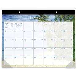 At A Glance Tropical Escape Calendar Desk Pad Calendar Deskpad Tropical Blue Ea