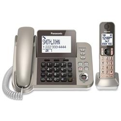 Panasonic Corded/cordless Phone/Answering Machine PHONES,1 CRDED & 1 CRDLSS  (NICKEL) (EA)