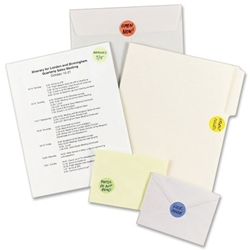Avery Custom Print Round Color Coding Labels